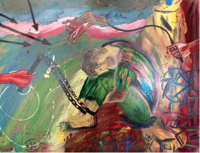 Refugee Art, Azraq Camp, Jordan